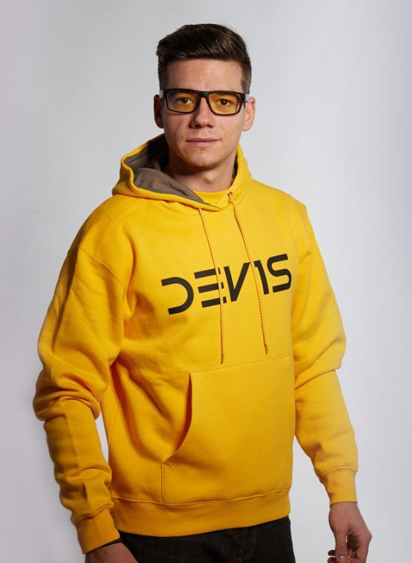 Mikina Dev1s žlutá